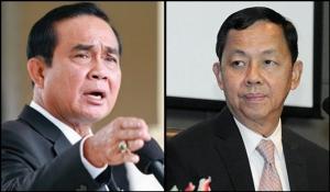 (ซ้าย) พล.อ.ประยุทธ์ จันทร์โอชา นายกรัฐมนตรีและหัวหน้า คสช. (ขวา) พล.ต.อ.วัชรพล ประสานราชกิจ ประธาน ป.ป.ช.