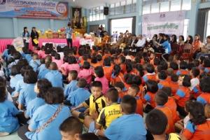 TSPCA ร่วมกับสมาคมโปคาดี้ 35 จัดโครงการหมอและยาเพื่อชีวิต ที่ ร.ร.บ้านหนองซาก อ.บ้านบึง จ.ชลบุรี