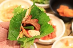 วิธีห่อหมูกับผักแบบเกาหลี