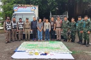 ตำรวจชุมพรรวบ 3 ชาวม้ง ขนยาเสพติดส่งภาค ใต้ยึดยาบ้า 1 ล้านเม็ด ไอซ์ 2 กิโล