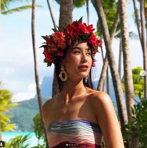 """""""มิ้นต์ ชาลิดา"""" สวยทุกซีนกับทริปสัมผัสทะเลสวยเกาะโบราโบร่า"""