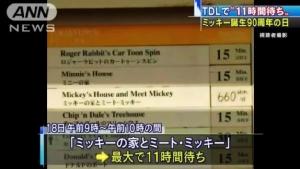"""ชาวญี่ปุ่นรอ 11 ชั่วโมงร่วมฉลองวันเกิด """"มิกกี้เมาส์"""" (ชมคลิป)"""