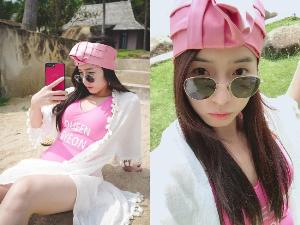 """""""จียอน"""" อวดออร่านุ่งวันพีซสีชมพูใสๆสไตล์เกาหลี"""
