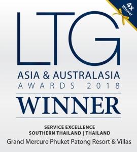 แกรนด์ เมอร์เคียว ภูเก็ต ป่าตอง คว้ารางวัลชนะเลิศจาก Luxury Travel Guide Asia & Australasia Awards 2018