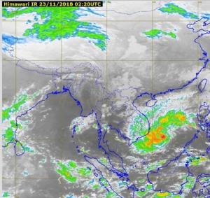 กรมอุตุฯ เผยภาคใต้ปริมาณฝนลดลง ภาคกลาง ภาคตะวันออก มีฝนบางพื้นที่ ภาคเหนือ ภาคอีสาน อุณหภูมิลดลง 1-3 องศา