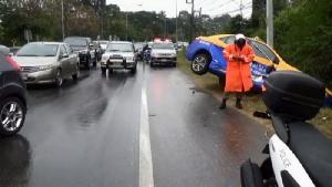 สภาพอากาศแย่! อุบลฯ ฝนตกฟ้าปิดทำรถชน 3 คัดรวด โชคดีไม่มีตาย