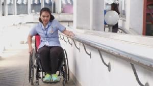 สุดยอด! พยาบาลสาววีลแชร์จากผู้ป่วยติดเตียง สู้รักษาตัวสานฝันสู่นางฟ้าชุดขาว