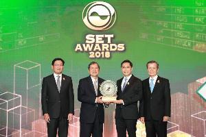 """ปรีชา เอกคุณากูล บิ๊กบอสซีพีเอ็นคว้ารางวัล """"Best CEO"""" รางวัลผู้บริหารสูงสุดยอดเยี่ยมในงาน SET Awards 2018"""