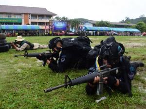 ศูนย์ปฏิบัติการอำเภอบันนังสตาจัดพิธีเปิดการฝึกทบทวนกำลังประจำถิ่น ประจำปี 2562
