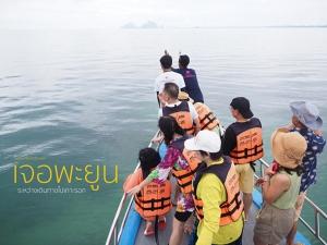 """สุดตื่นเต้น! """"พะยูน"""" โผล่เกาะมุกด์ให้นักท่องเที่ยวได้ชมอย่างใกล้ชิด"""