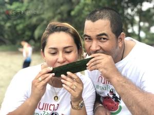 """นักท่องเที่ยวร่วม """"ก้าววิ่งกินแตงโม@เกาะสุกร ซูเปอร์มินิมาราธอน"""" ช่วยโปรโมตแตงโมชื่อดัง"""
