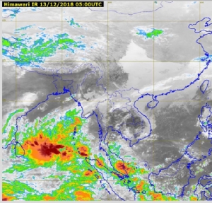 กรมอุตุฯ เผย ทั่วไทยอุณหภูมิลดอีก 1-2 องศา  ภาคใต้มีฝนตกหนักบางพื้นที่