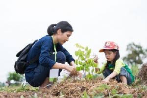 สระบุรี ปลูกต้นไม้ บนหัวคันนาทองคำ ด้วยมือเล็กๆ ที่จะช่วยกันสร้างโลกที่ดีในอนาคต
