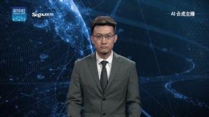 รูปภาพที่ 1: ภาพจากวิดีโอเปิดตัวผู้ประกาศข่าว AI ของจีน ซึ่งวิดีโอทั้งหมดถูกสร้างขึ้นจากเทคนิคสมองกล AI (ที่มาภาพ: https://www.cnbc.com/2018/11/09/the-worlds-first-ai-news-anchor-has-gone-live-in-china.html )