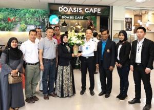 DOASIS Café ร้านกาแฟฮาลาลแกรนด์โอเพนนิ่งที่ ทอท.หาดใหญ่ ลั่นปี'62 เพิ่มกว่า 10 สาขา เล็งสนามบินทั่วไทย