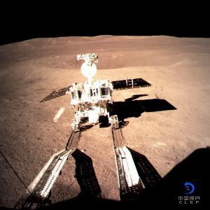 ฉางเอ๋อิ 4 ที่ด้านมืดของดวงจันทร์ (China National Space Administration (CNSA) via CNS / AFP)