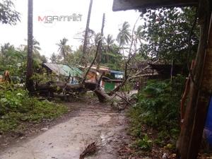 พายุพัดบ้านบนเกาะมุกด์คนเริ่มผวา ทางการสั่งห้ามเรือออกวิ่งเด็ดขาด