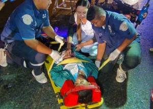 ไม่ดูดาย ผช.พยาบาล รพ.พุทธโสธร ทิ้งรถช่วยคนเจ็บกลางถนนหลังออกเวรกลางดึก