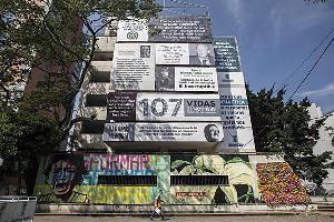 พี่ชายปาโบล เอสโคบาร์ ออกคริปโตระดมทุนถอดถอนทรัมป์ ในภาพคือตึกโมนาโกในเมืองเมเดยินที่เคยเป็นบ้านของปาโบล ซึ่งจะรื้อทำลายในเดือนหน้าเพื่อสร้างสวนสาธารณะรำลึกถึงเหยื่อสงครามยาเสพติด