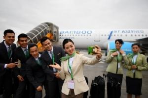 """""""แบมบูแอร์เวย์ส"""" สายการบินน้องใหม่เวียดนามบินเที่ยวปฐมฤกษ์ ขยายฝูง 50 ลำสิ้นปีนี้"""
