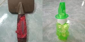 เตือนภัย! เผยภาพด้ามหวีขนสุนัข ถูกน้ำสบู่เป่าฟองหกใส่จนละลาย แนะผู้ปกครองควรเลี่ยงของเล่นชนิดนี้