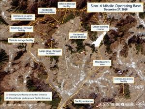 ภาพถ่ายดาวเทียมบริเวณฐานปฏิบัติการขีปนาวุธ ซิโน-รี (Photo: CSIS/ European Space Agency)