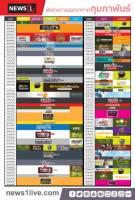 ผังรายการ NEWS1 เดือนกุมถาพันธ์ 2562