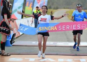 วิไลวรรณ ขำพิทักษ์ คว้าแชมป์ ระยะ 16 กม. หญิง ด้วยสถิติ 1.11.41 นาที ในการแข่งขันวิ่ง