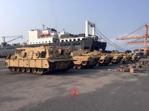 """สหรัฐขนรถถัง M1A1 """"เอบรามส์"""" เข้าไทยฝึกคอบร้าโกลด์ให้ได้เห็นเป็นครั้งแรก"""