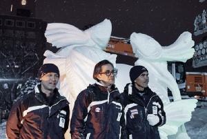 """ไทยเจ๋ง ส่ง""""ปลากัด""""ประกาศศักดา คว้าแชมป์แกะสลักหิมะ เทศกาลหิมะซัปโปโรเป็นครั้งที่ 8"""