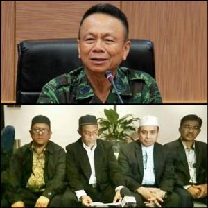 (บน) พล.อ.อุดมชัย ธรรมสาโรรัชต์ หัวหน้าคณะพูดคุยเพื่อสันติสุขจังหวัดชายแดนภาคใต้  (ล่าง) แฟ้มภาพ กลุ่มมาราปาตานี