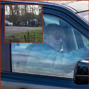 """In Clips: """"เจ้าชายฟิลิป"""" สวามีควีนเอลิซาเบธที่2 ยอมสละใบขับขี่   3 สัปดาห์หลังรถพระที่นั่งเฉี่ยวชนจนพลิกตะแคง"""