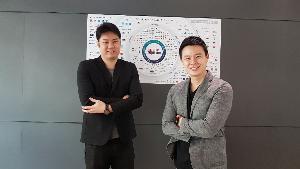 จากซ้าย อดิศร วิเชียรเจริญ ผู้ร่วมก่อตั้ง และประธานฝ่ายการตลาด และ ณัฐพล วัชรศิริสุข หรือณัฐ ประธานกรรมการบริหาร บริษัท คอร์สสแควร์ จำกัด