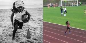 """ตะลึง!! ลมกรดวัย 7 ขวบ วิ่ง 100 เมตร เฉียดสถิติโลก """"โบลต์"""" 3.9 วินาที"""