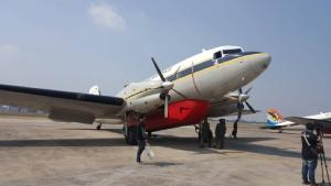 ทัพฟ้าจัดเครื่องบินบรรทุกน้ำ 3,000 ลิตร ฉีดพ่นจับฝุ่นเหนือเขตบางเขน-วังทองหลาง รับมืออากาศปิด