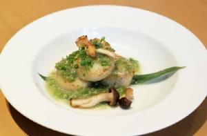 หอยเชลล์ซอสวาซาบิ