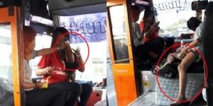 สาวสุดทน! แฉพฤติกรรมพนักงานรถประจำทาง นำเบียร์มาดื่มพร้อมสูบบุหรี่ วอนหน่วยงานตรวจสอบ