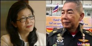 (ซ้าย) คุณหญิงสุดารัตน์ เกยุราพันธ์ ประธานยุทธศาสตร์การเลือกตั้งพรรคเพื่อไทย (ขวา) พล.อ.อภิรัชต์ คงสมพงษ์ ผู้บัญชาการทหารบก
