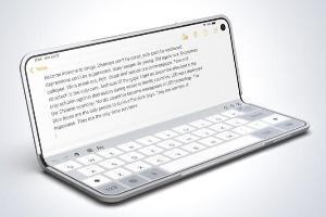 สิ่งที่โดดเด่นที่สุดหากมีการแจ้งเกิด iPhone แบบพับ คือแป้นพิมพ์แบบแล็ปท็อปที่อาจจะปรากฏตัวบน iPhone