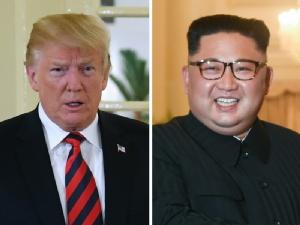 ประธานาธิบดี โดนัลด์ ทรัมป์ แห่งสหรัฐฯ และผู้นำ คิม จองอึน แห่งเกาหลีเหนือ