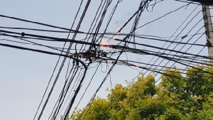 หม้อแปลงไฟฟ้าระเบิดตูมสนั่น 3 จุด เมืองประจวบฯ
