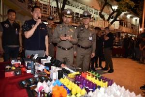 ตำรวจบุกตลาดนัดดังกลางกรุงเทพฯ 22 จุด จับขายบุหรี่ไฟฟ้า 30 ร้าน