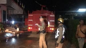 ไฟไหม้บ้านใกล้ตลาดวัดธาตุหนองคาย เจ้าของบ้านหมดตัวทรัพย์สินถูกไฟไหม้หมด