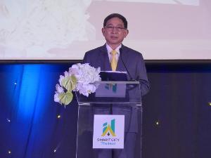 ลุยเดินหน้าขับเคลื่อนเมืองอัจฉริยะ เปิดตัวโลโก้ Smart City Thailand พร้อมรับสมัครเมืองทั่วประเทศมาพัฒนาเป็นเมืองอัจฉริยะต้นแบบ
