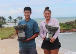 เจียกุน หลี แชมป์เจจีทีเอ ปี 2019 จากเซียงไฮ้ และ คิลมิล์ บอยด์ แชมป์ เจจีทีเอ ปี 2020 จากสหรัฐอเมริกา