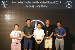 เค้งเหงษ์ทอง เฟ้นนักกอล์ฟ แข่ง MercedesTrophy Qualify  2019