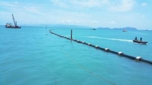 เอสซีจี โชว์นวัตกรรมท่อส่งน้ำขนาดใหญ่ลอดใต้ทะเลสู่เกาะสมุย แก้ปัญหาการขาดแคลนน้ำ