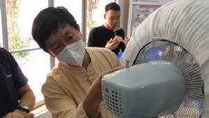 นักวิจัย มช.คิดค้นเครื่องฟอกอากาศราคาประหยัด ต้นทุน 30 บาทลดฝุ่นPM2.5ได้80%