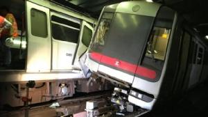 "In Pics&Clips: ""รถไฟใต้ดินฮ่องกง"" ประสานงาเช้ามืดวันนี้ ตู้โบกี้พังยับ ระหว่างทดสอบระบบส่งสัญญาณ"