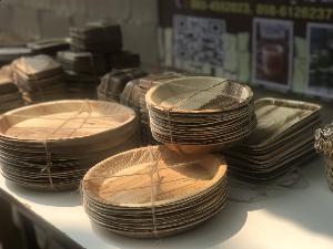"""ปลุกขยะให้เป็นเงิน  แจ้งเกิดจานกาบหมาก  """"บ้านท่าดีหมี""""  ดีต่อใจ ดีต่อโลก"""
